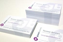 Diseño tarjetas de visita y cartelería